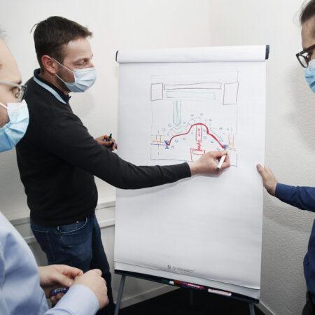 Innovative Köpfe beim Brainstorming